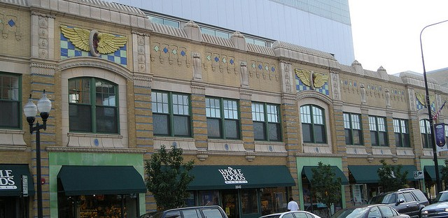 A Whole Foods on North Halsted Avenue in Boystown. The high-end grocery store chain announced plans to open a new store in 2016 on South Halsted Avenue in Englewood.