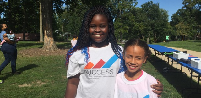 Fourth Graders Colby Dawkins and Greer Howard attend the a back-to-school cookout that aims to foster community for families of color in Naperville School District 203.