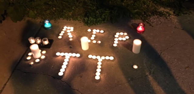 The vigil on the 1300 block of S. Kolin was the second in as many days for T.T., a transgender woman found with her throat slashed on September 11, 2016.
