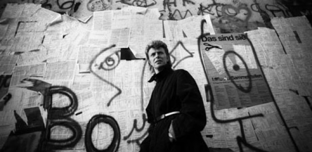 "Heroes: David Bowie ""by the wall."""