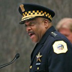 Eddie Johnson speaks after being sworn in as the new Chicago police superintendent by Mayor Rahm Emanuel in April.