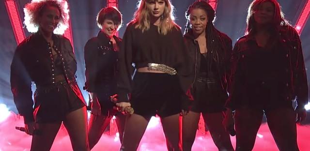 Taylor Swift performing on Saturday Night Live, Nov. 11.
