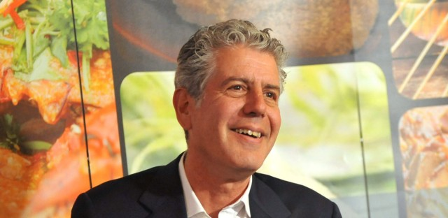 In this photograph provided by Singapore Tourism Board via AP Images, Singapore Tourism Board and Anthony Bourdain hosted a luncheon to showcase Anthony's love for Singaporean food and Singapore's new 2012 tourism developments at Laut Restaurant in New York, Monday, Feb. 13, 2012.