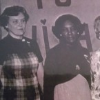 Marie Moe, second on left, with a group of church women.