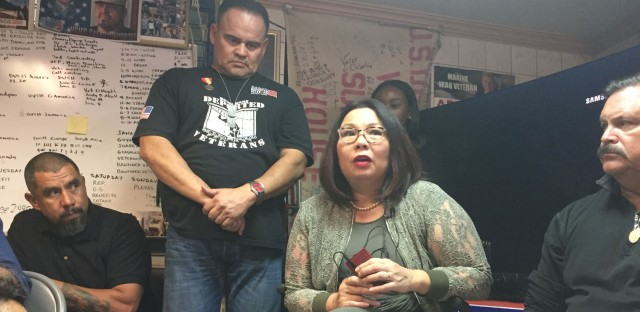 Sen. Tammy Duckworth in Tijuana with deported veterans