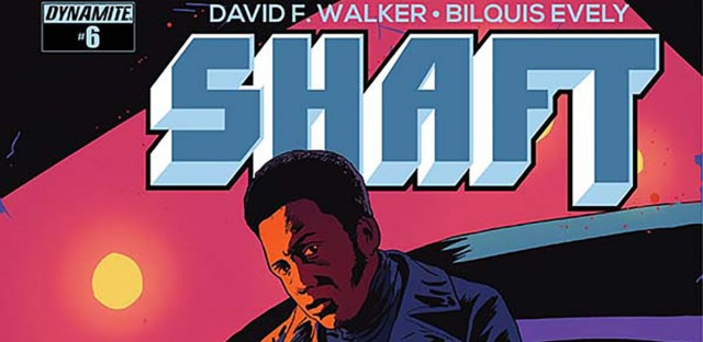 Cover of Issue 6 of the Shaft comics, written by David F. Walker.