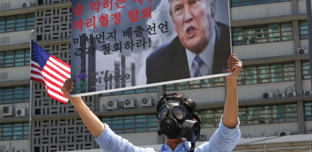 A South Korean environmental activist