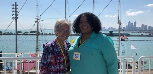 Angela Hicks and Sr. Donna Liette