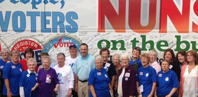 'Nun on the Bus' builds momentum for voters
