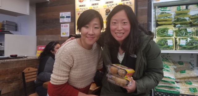 WBEZ's Susie An with friend Sophie Kim at Joong Boo on the Northwest Side
