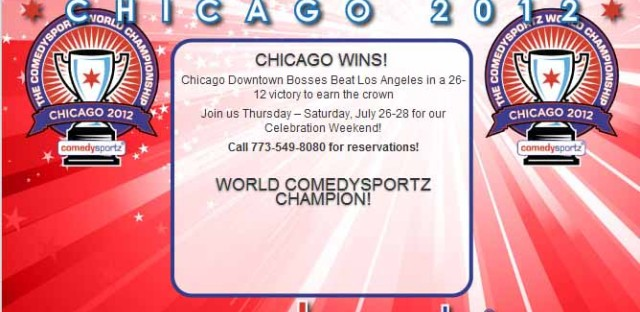 Daily Rehearsal: ComedySportz Chicago wins 2012 ComedySportz World Championship