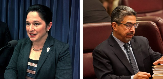 Illinois Comptroller Susana Mendoza (left) and Chicago Ald. Danny Solis (25th Ward).