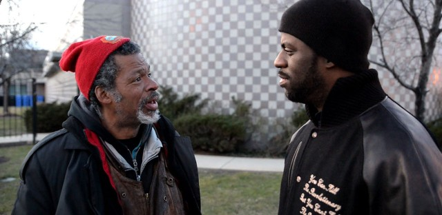 """Reunited on the streets of the South Side: Brian Tillman and his son Che """"Rhymefest"""" Smith"""
