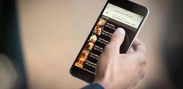 Starbucks calorie count on app