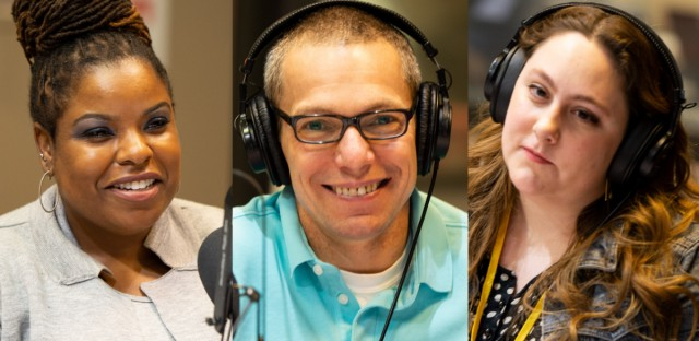 Journalists Lolly Bowean, Mick Dumke and Hannah Meisel on WBEZ's Friday News Roundup on June, 14, 2019.