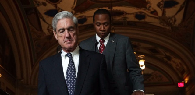 Special counsel Robert Mueller arrives at the U.S. Capitol for a closed meeting with members of the Senate Judiciary Committee last month.