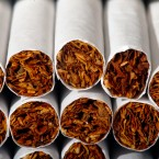 This Tuesday, July 15, 2014 photo shows the tobacco in cigarettes in Philadelphia.
