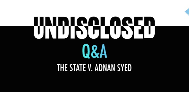 Undisclosed: The State Vs. Adnan Syed : audioBoom Q&A Pt.5: Rabia Chaudry Image