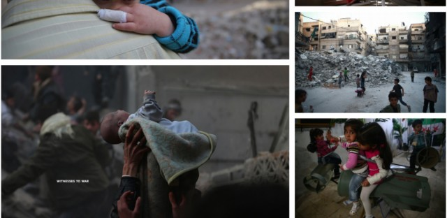 "A page from the book ""Witnesses to War: The Children of Syria, Stories and Photography by Bassam Khabieh"""