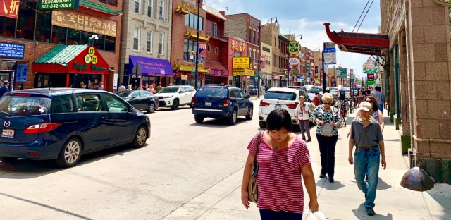 Wentworth Avenue teems with activity Tuesday afternoon in Chicago's Chinatown community. In an effort to ensure that residents there and other communities are counted in next year's census, a coalition of more than 20 Chinese groups have formed a committee to coordinate outreach efforts in preparation for census 2020.