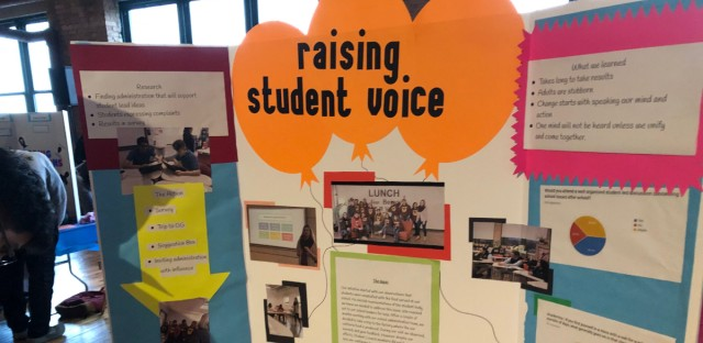 Students from about 60 Chicago Public Schools presented solutions to problems they see in their schools and the city at an event this week.