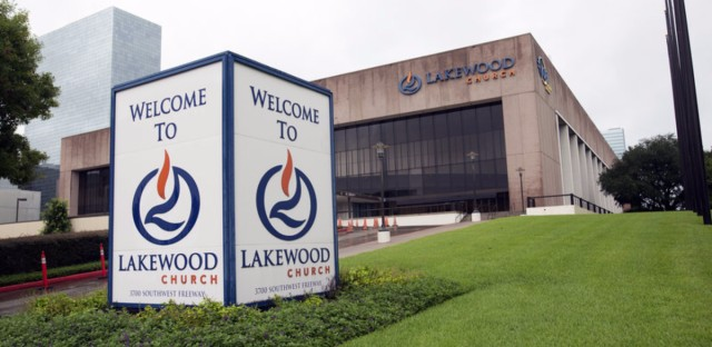 Joel Osteen's Lakewood Church in Houston came under scrutiny for not opening its doors to evacuees from Hurricane Harvey. The former basketball arena seats 16,000 people. Jorge Sanhueza-Lyon/KUT