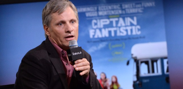 "Actor Viggo Mortensen participates in AOL's BUILD Speaker Series to discuss the film ""Captain Fantastic"" at AOL Studios on Monday, July 11, 2016, in New York."