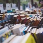 books at a sidewalk sale