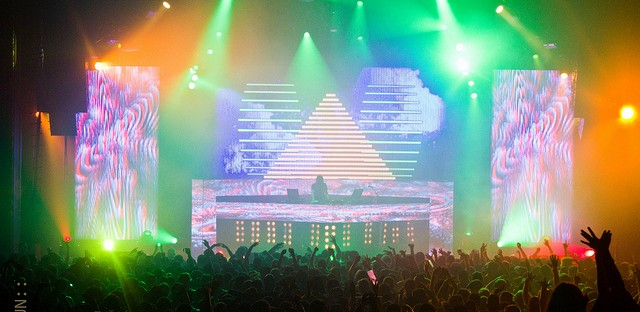 DJ Bassnectar at the Congress Theater in Chicago on April 14, 2012.