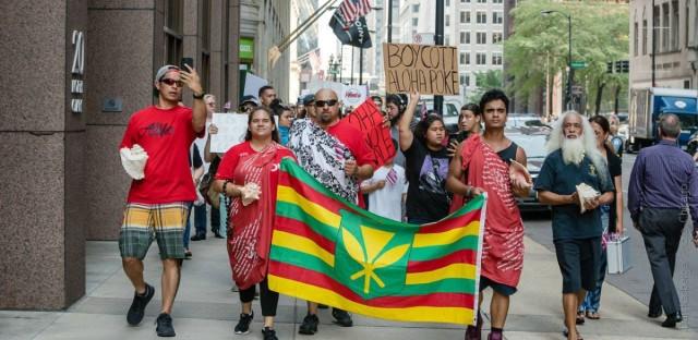 Boycott Aloha Poke Co. Protest