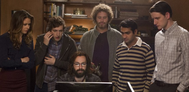 Amanda Crew, Thomas Middleditch, Martin Starr, T.J. Miller, Kumail Nanjiani and Zach Woods star in the HBO series Silicon Valley.