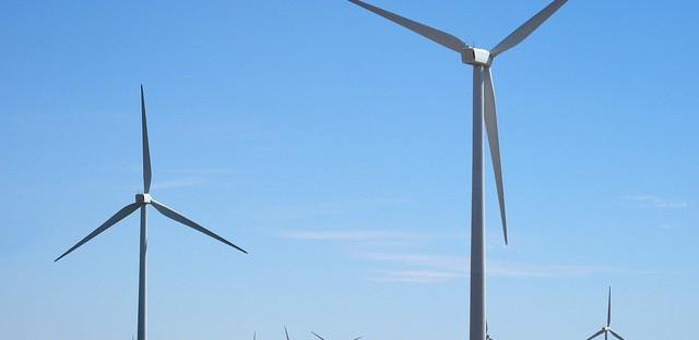 A wind farm in Pontiac, Ill.