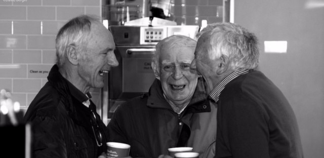 Old men laughing laughter