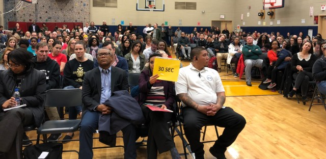 Hundreds of parents gathered Monday, November 5 at Chicago's Ogden International School to discuss the abrupt removal of Principal Michael Beyer by Chicago Public Schools officials.