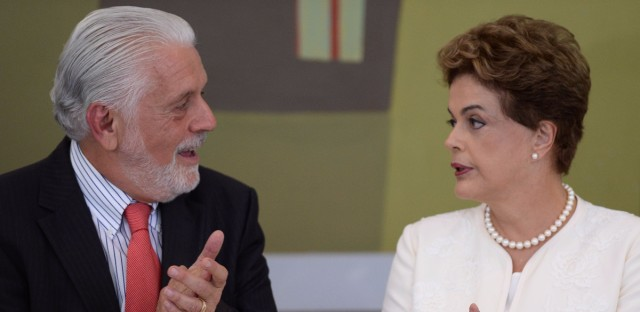 Both President Dilma Rousseff and former President Luiz Inacio Lula da Silva, shown here during his swearing-in ceremony as the chief of staff March 17, have been caught up in the wiretap firestorm. Eraldo Peres/AP