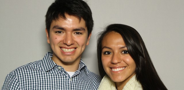 Rafael Robles and his sister, Karla Robles, came to the StoryCorps booth at the Chicago Cultural Center.