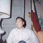 President Ferdinand Marcos poses on Nov. 22, 1965, in Manila, Philippines.