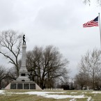 A monument in Oak Woods Cemetery at 67th Street and Cottage Grove marks the largest mass grave in the Western Hemisphere, or where roughly 4,000 Confederate soldiers who died at Camp Douglas are buried.