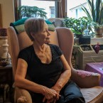 Olga Bueno, 76, is one of four residents named in a housing discrimination complaint against the Chicago Housing Authority. Bueno said she worries about falling while taking a shower. She is angry that the CHA has not installed grab bars in her bathroom, despite her repeated requests.