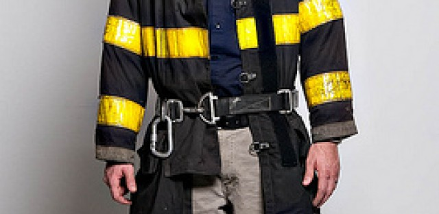 An example of a Chicago firefighter's bunker gear.