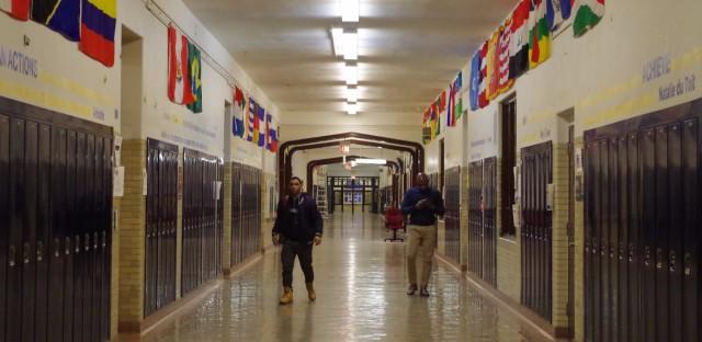 Chicago High School Hallway