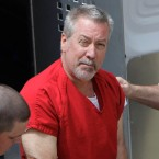 In this May 8, 2009, file photo, former Bolingbrook, Ill., police officer Drew Peterson arrives for court in Joliet, Ill. On Tuesday, May 31, 2016, jurors in Chester, Ill., found Peterson guilty of trying to hire someone to kill the prosecutor who helped convict him in his third wife's death.
