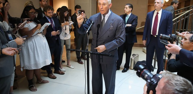 Republican political operative Roger Stone, seen here in a photo from 2017, was charged in connection with the Russian attack on the 2016 election.