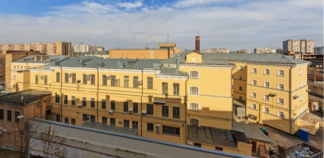 Exterior view of Lefortovo Prison in Moscow