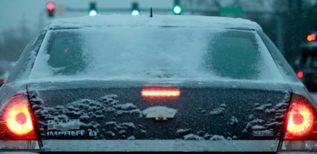 Car In Deep Freeze