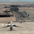 Parked Qatari planes in Hamad International Airport