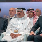 "In this Tuesday, June 25, 2019, photo released by Bahrain News Agency, from left to right, U.S. Treasury Secretary Steven Mnuchin, Bahrain Crown Prince Salman bin Hamad Al Khalifa and White House senior adviser Jared Kushner attend the opening session of the ""Peace to Prosperity"" workshop in Manama, Bahrain. Amid heavy skepticism and deep doubts about prospects for success, the Trump administration on Tuesday was convening an international conference to promote its ambitious but heavily criticized $50 billion economic support plan for the Palestinians"