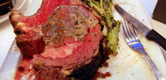 Prime rib, after