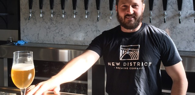 """""""If you're getting into brewing specifically to make money,"""" says Mike Katrivanos, """"I'd advise against it."""" Katrivanos is a co-founder of New District Brewing."""