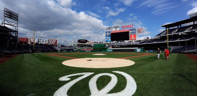 Nationals Park in Washington, where the Congressional Baseball Game is scheduled to take place Thursday, a day after Rep. Steve Scalise and four others were shot during practice Wednesday.